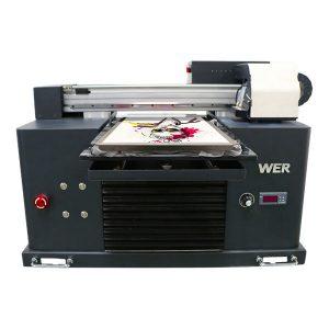 berkualiti tinggi dan rendah harga eco pelarut flatbed pencetak murah harga / digital flatbed t-shirt pencetak