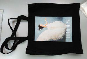 Beg sampel hitam dari pelanggan UK telah dicetak oleh pencetak tekstil dtg