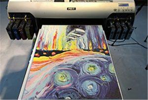 Sampel kanvas daripada Pencetak UV A2 WER-EH4880UV