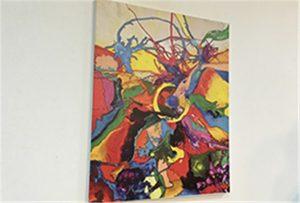Sampel kanvas dicetak oleh pencetak uv saiz A1 WER-EP6090UV