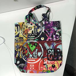 Sampel percetakan beg bukan tenunan oleh pencetak tekstil A1 WER-EP6090T