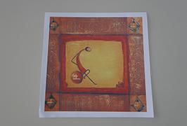 Kanvas Minyak dicetak oleh pencetak pelarut eco 2.5m (8 kaki) WER-ES2502 3