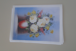 Kanvas Minyak dicetak oleh pencetak pelarut eko 2.5m (8 kaki) WER-ES2502