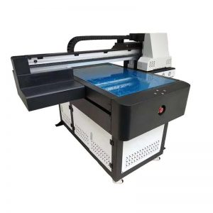 Pencetak flatbed UV yang berputar untuk ketinggian percetakan 8cm WER-ED6090UV