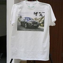 Contoh percetakan t-shirt putih oleh pencetak t-shirt A3 WER-E2000T 2